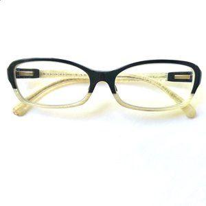 Chanel Two-Tone Black + Ivory Eyeglasses